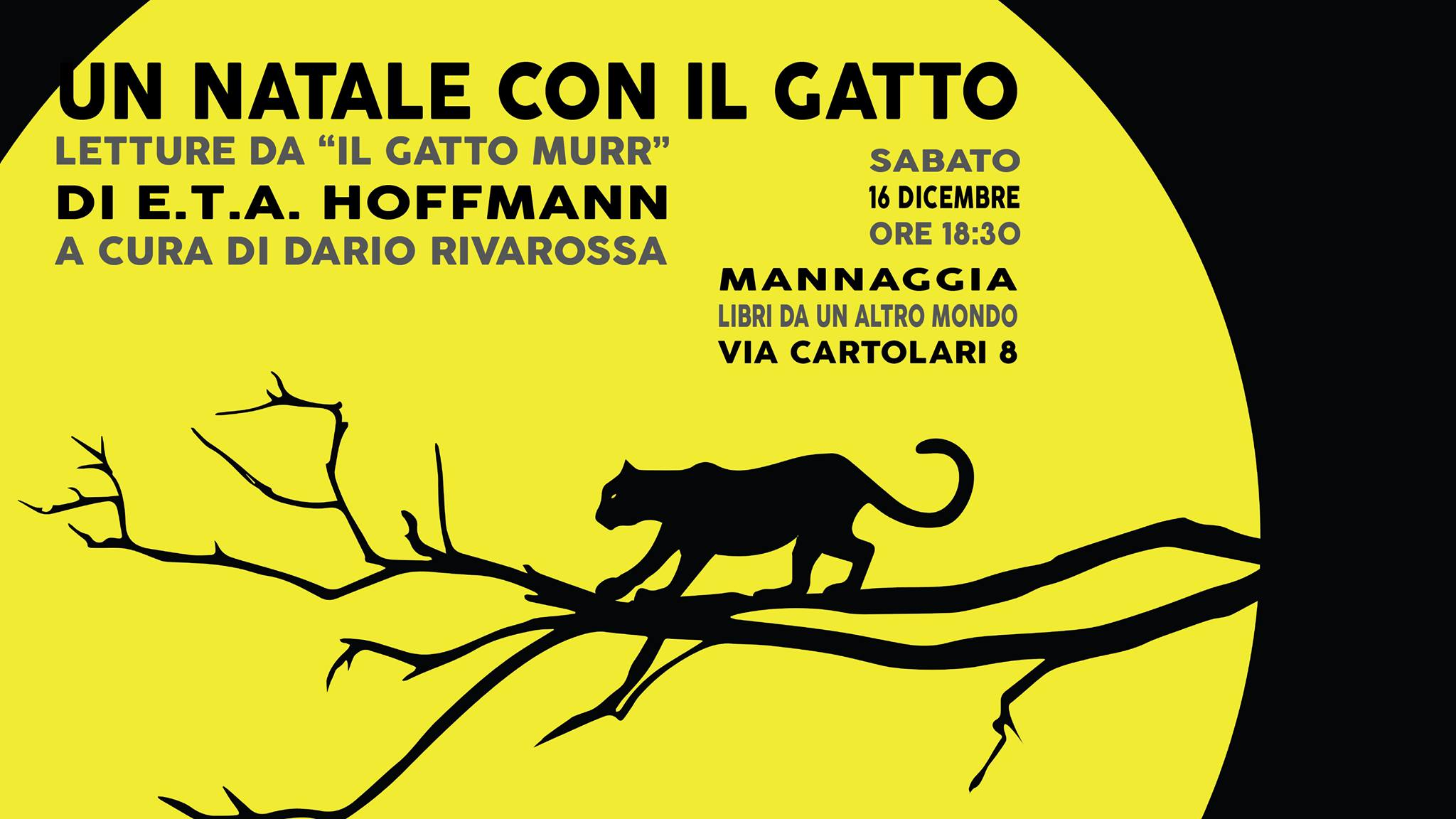 """Un Natale con il gatto - Letture da """"Il gatto Murr"""" di Hoffmann"""
