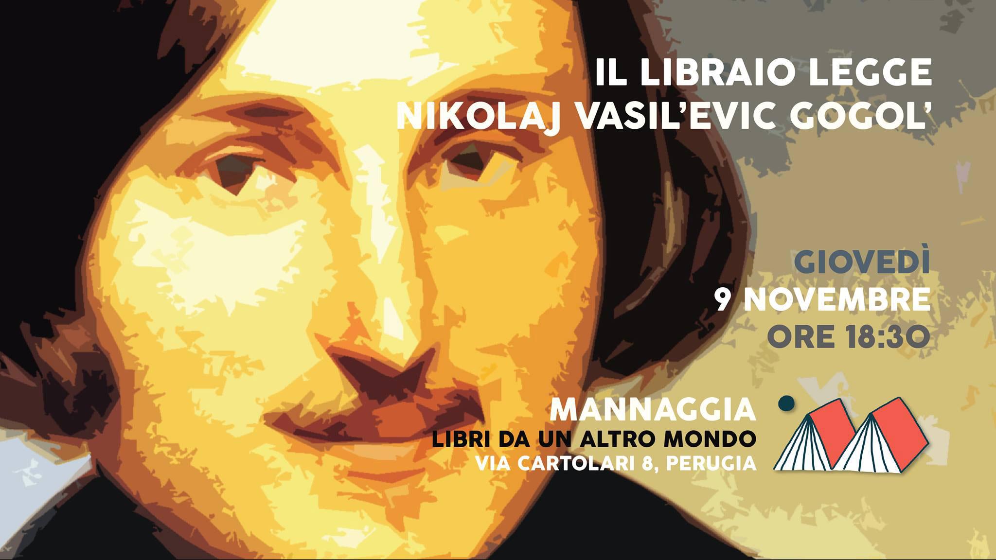 Il libraio legge Nikolaj Vasil'evic Gogol'
