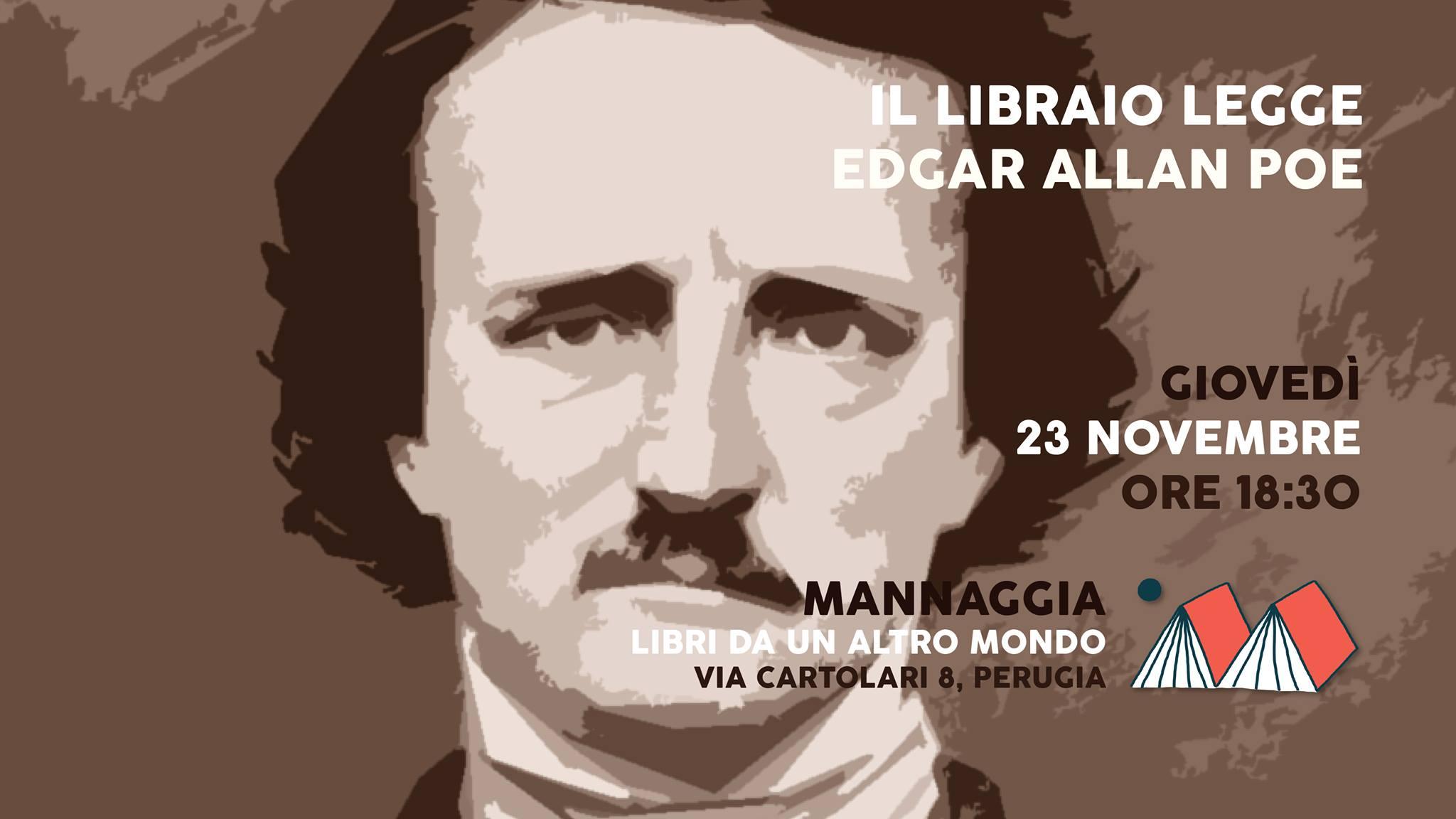 Il libraio legge Edgar Allan Poe