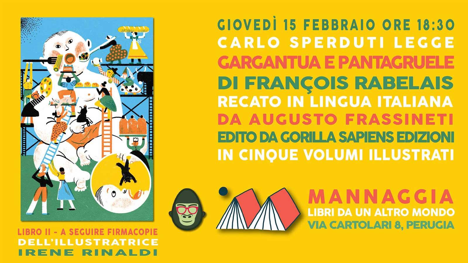 """Carlo Sperduti legge """"Gargantua e Pantagruele"""" - Libro II"""
