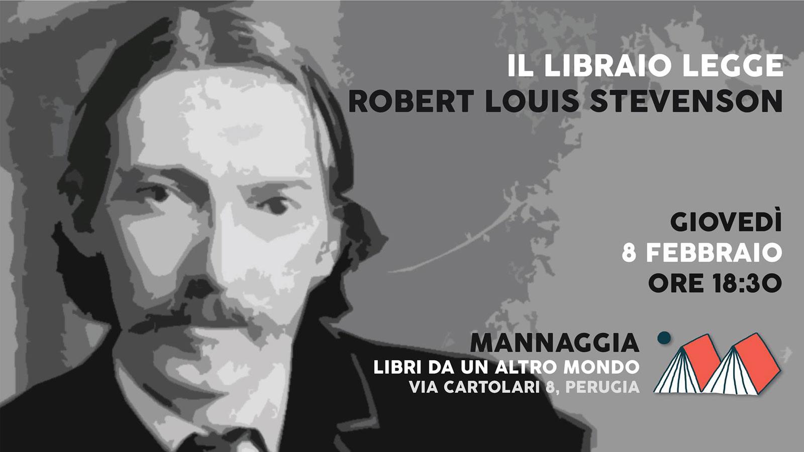 Il libraio legge Robert Louis Stevenson