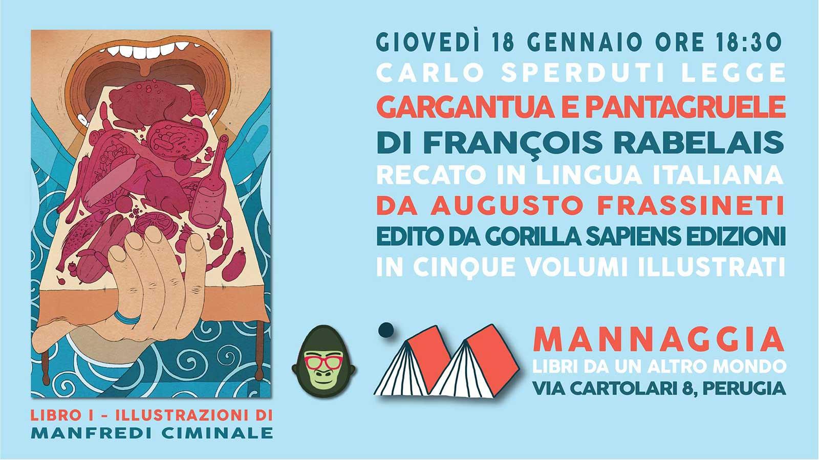 """Carlo Sperduti legge """"Gargantua e Pantagruele"""" - Libro I"""