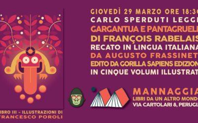 """Carlo Sperduti legge """"Gargantua e Pantagruele"""" – Libro III"""