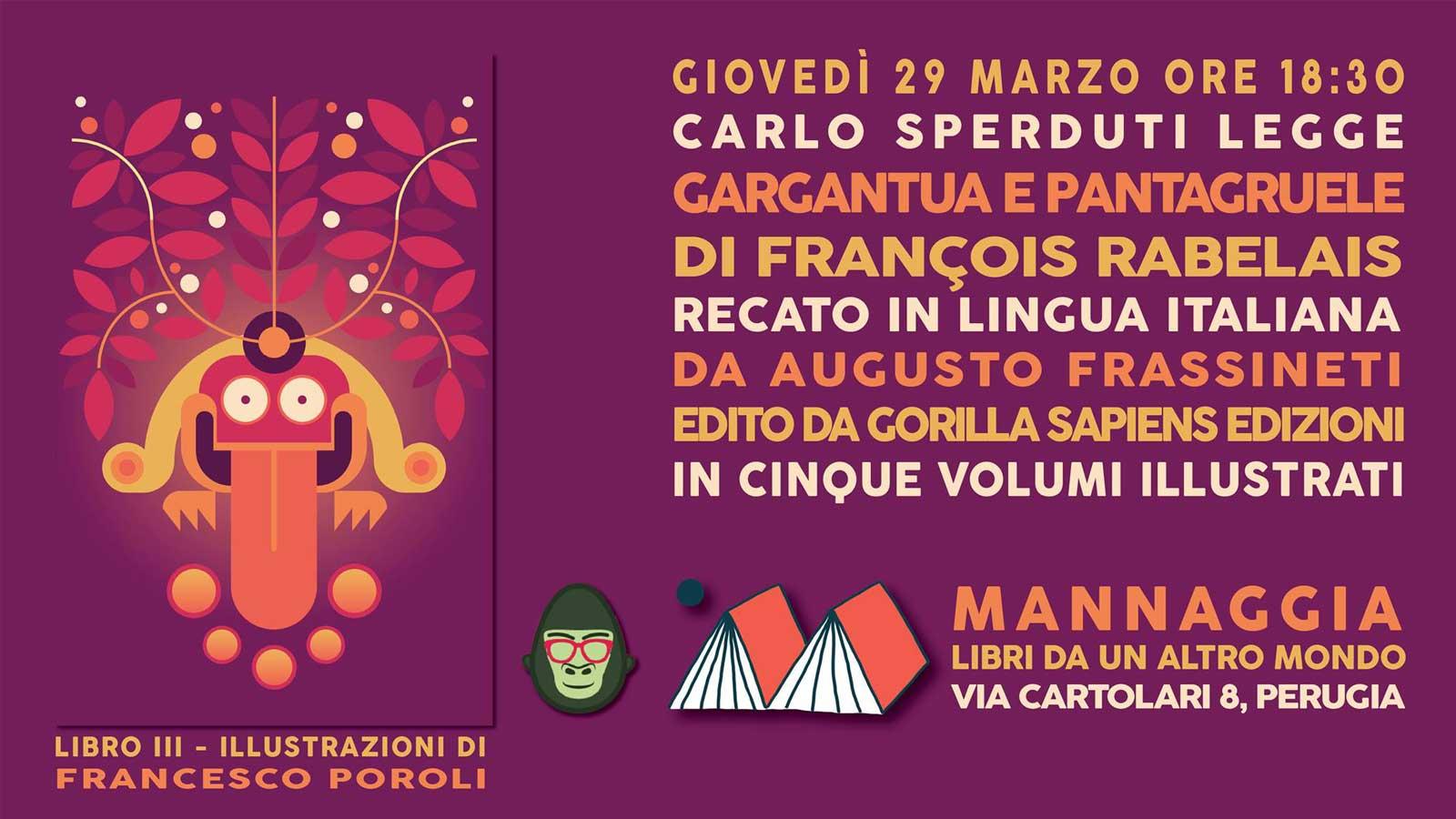 """Carlo Sperduti legge """"Gargantua e Pantagruele"""" - Libro III"""