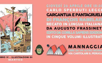 """Carlo Sperduti legge """"Gargantua e Pantagruele"""" – Libro IV"""
