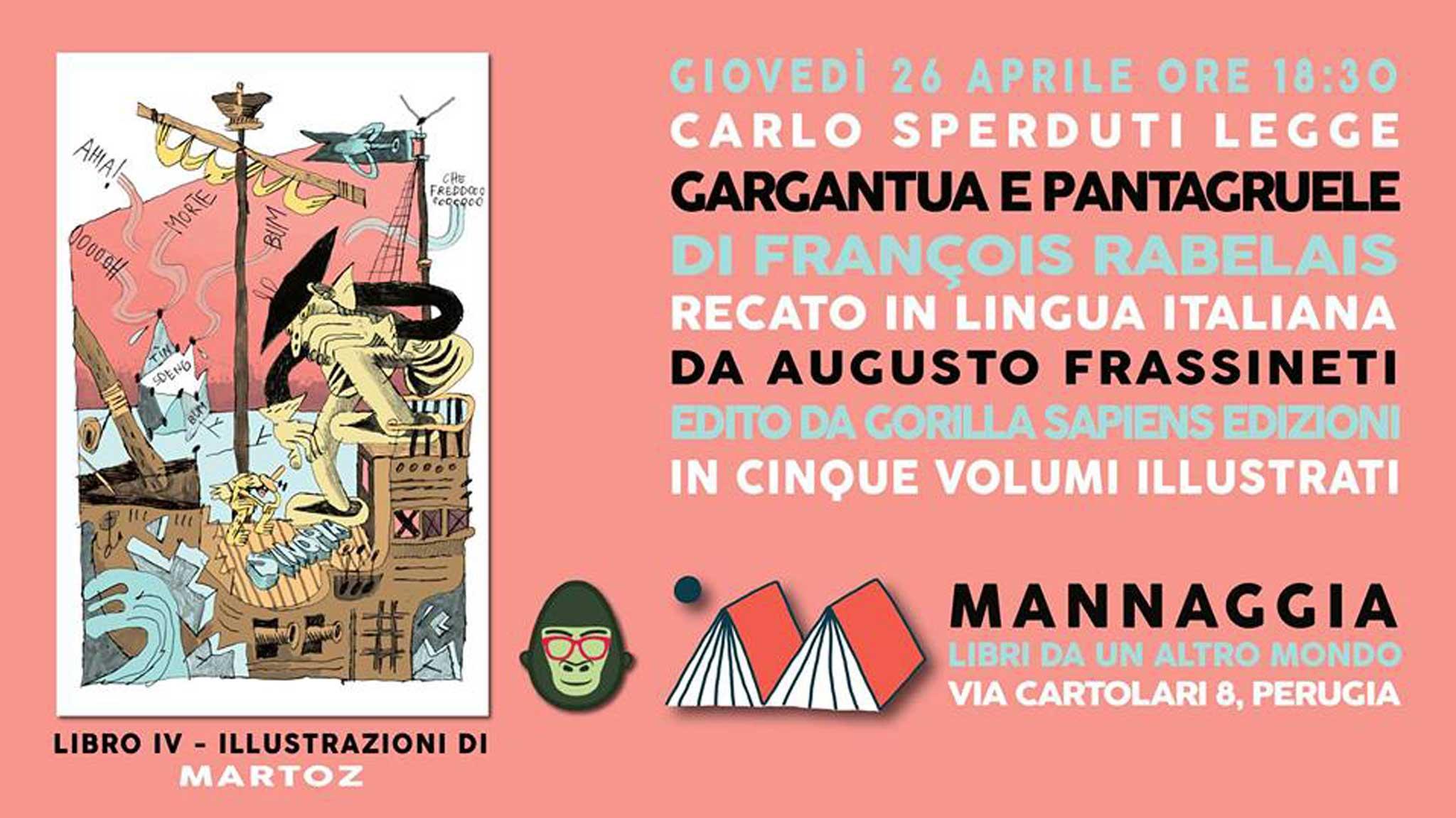 """Carlo Sperduti legge """"Gargantua e Pantagruele"""" - Libro IV"""