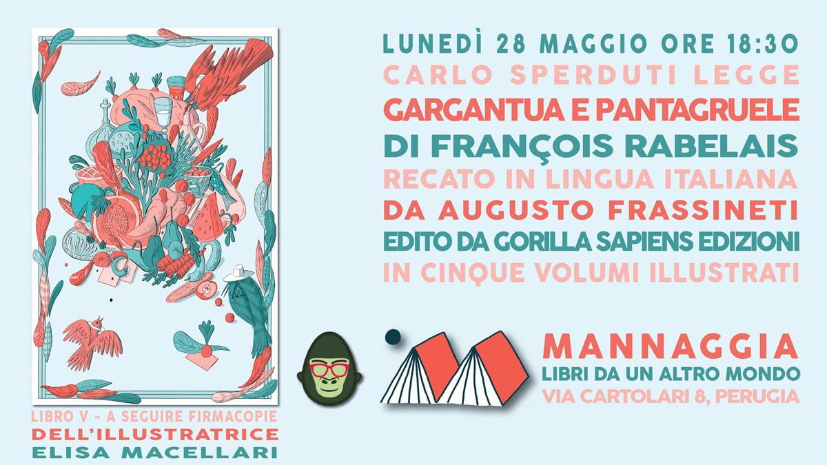 "Carlo Sperduti legge ""Gargantua e Pantagruele"" - Libro V"